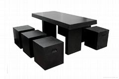 Fiberglass Lightweight Terrazzo Quartz Stone Dining Table
