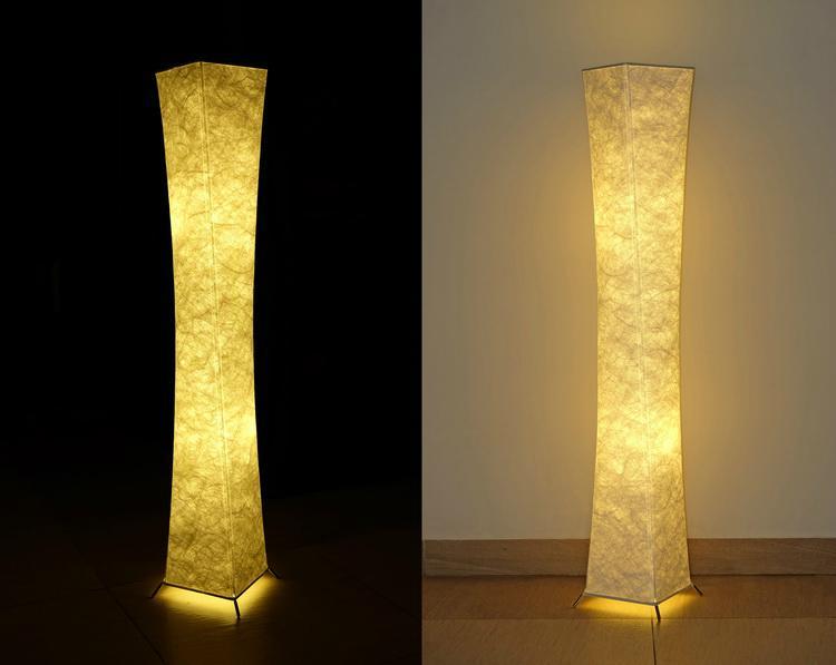 """52""""SOFTLIGHTING Floor lamp Fabric shade Simple shape Warm atmosphere Bedroom 4"""