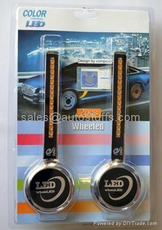 LED Auto Wheel Light x2PCS A008(Programable & Rechargeable ) 2