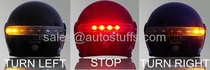 LED Wireless Helmet Turn and Brake Light for Motorcycles 4