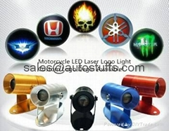 LED Logo Laser Ghost Light for Motorcycles,Custom Logo Design Available!