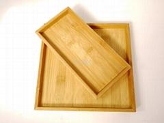 YCZM Bamboo Square Plate Sets