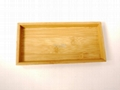 YCZM Bamboo Square Plate Sets