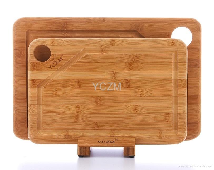 YCZM 有溝槽竹製砧板 3