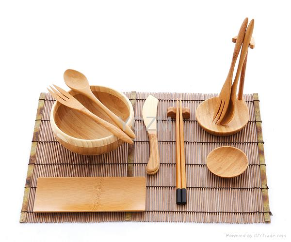 YCZM Bamboo Tableware Set