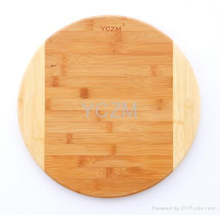 YCZM Round Bamboo Cutting Borad 1