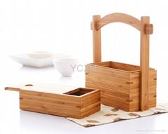 YCZM Fine Three-Layer Bamboo Boxes
