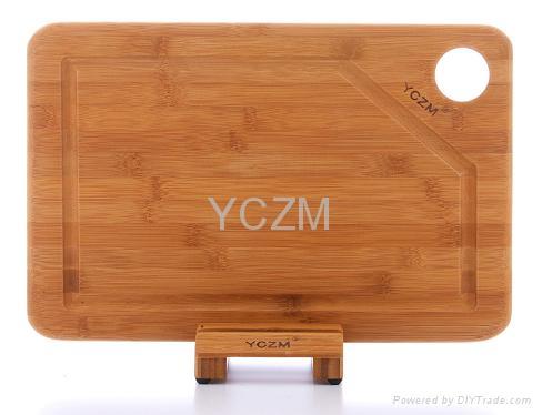 YCZM 有溝槽竹製砧板 1