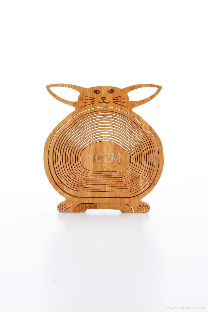 YCZM 竹製水果籃(可愛龍貓版)