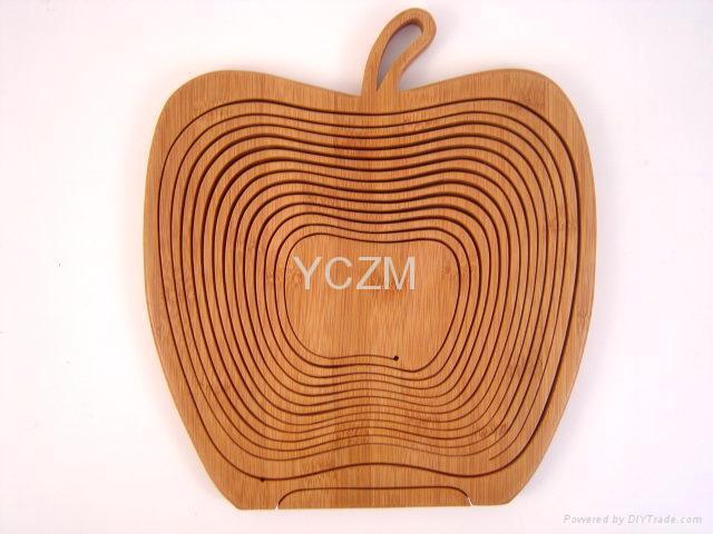 YCZM 竹製水果籃(蘋果版) 1