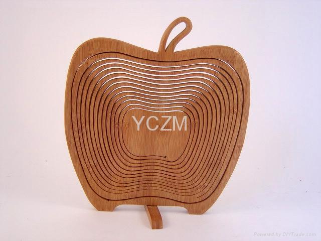 YCZM 竹製水果籃(蘋果版) 2