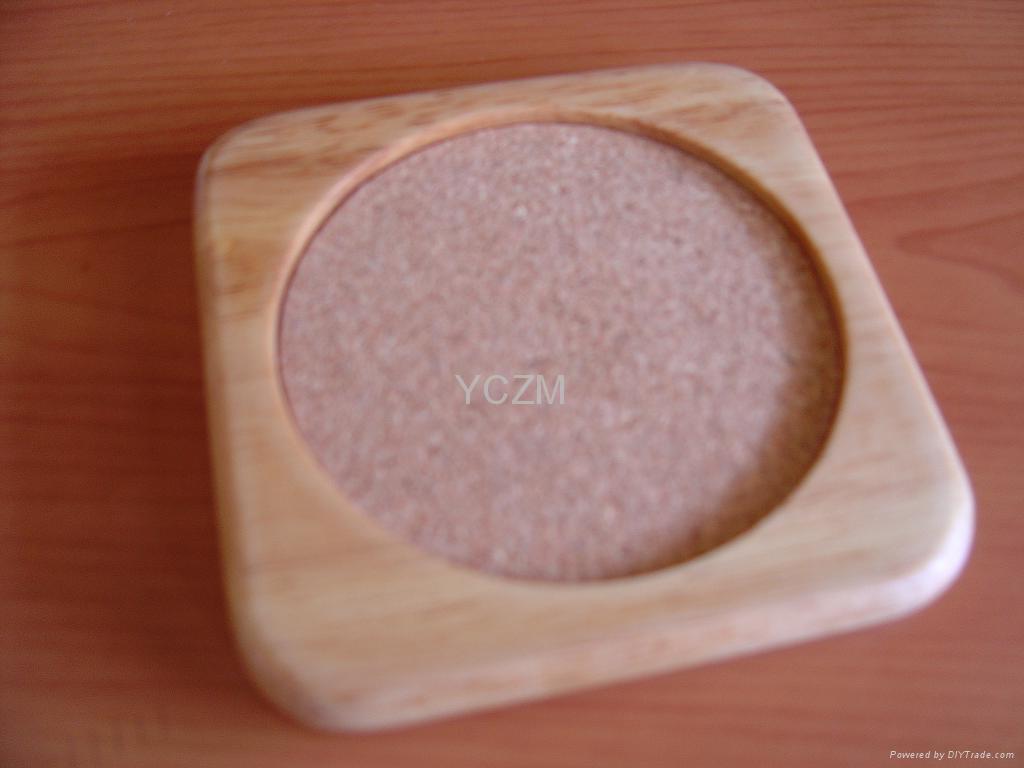 YCZM 竹製茶杯墊 1