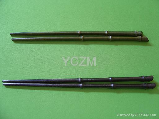 YCZM木製竹型筷子 1