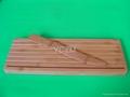 YCZM 竹製切麵包砧板和竹刀
