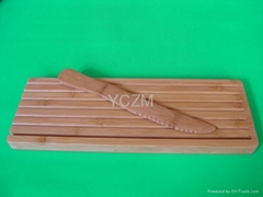 YCZM Bread Cutting Board and Bamboo Knife