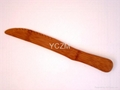 YCZM 竹製切麵包砧板和竹刀 3