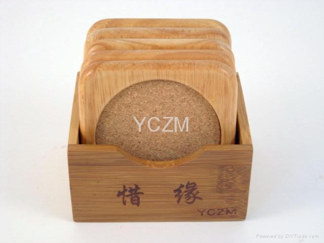 YCZM 竹製茶杯墊 5