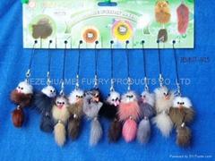 皮毛玩具,手工制作的毛皮动物