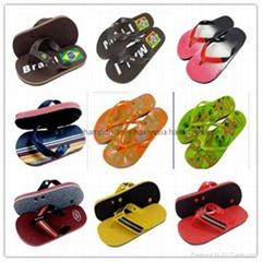 非洲中東暢銷硬底中高檔橡膠  新熱銷哈瓦那款橡膠拖鞋