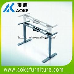 AOKE AK2RT-DB2 telescoping width electric adjustable desk