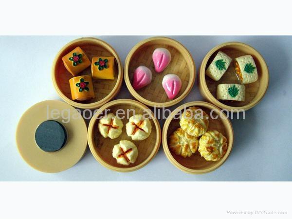 Chinese dim sum fridge magnets 1