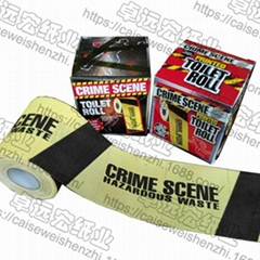 Crime Scene toilet papr B&M bathroom tissue