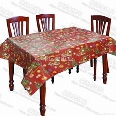 防水防油淋膜方形印花一次性紙桌布批發訂製一次性各種形狀紙台布