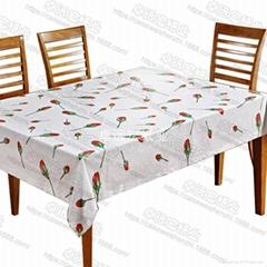彩色印刷台布訂製覆膜防水防油紙桌布可書寫畫畫印花一次性餐桌布