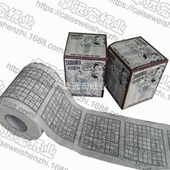 Sudoku printed toilet ti