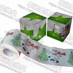 聖誕節衛生紙彩色節日印花捲紙創意廁紙深圳紙巾廠