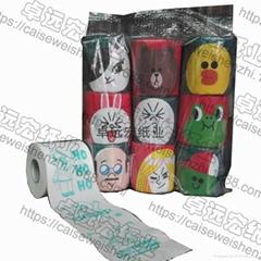 套裝印花衛生紙訂製彩色卷紙創意廁紙生產