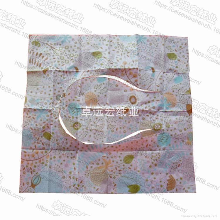 printed paper toilet seat cover 40cm x 42cm flushable  2