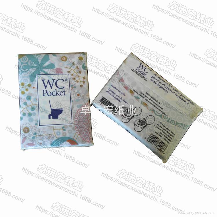 printed paper toilet seat cover 40cm x 42cm flushable  3