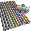 輕塗紙彩色印花禮品包裝紙加工廠鍍鋁箔紙防水高檔聖誕包裝紙套裝 2