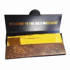 24k金色卷烟纸手工卷烟纸印花卷烟纸