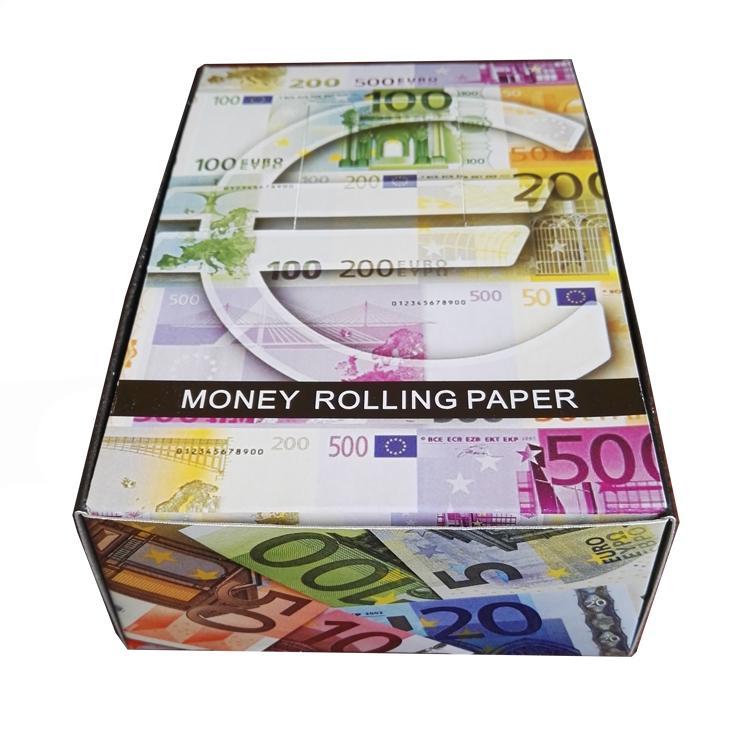 手工卷煙紙印花捲煙紙24k金色卷煙紙燙金煙紙 3