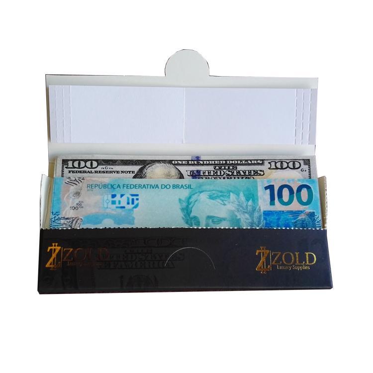 custom printed money rolling paper 24k gold foil rolling paper