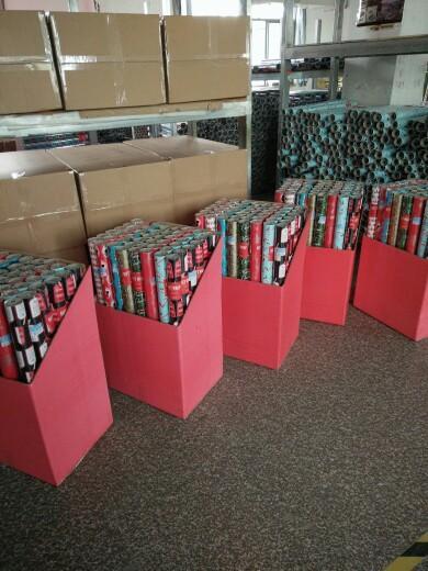 禮品包裝紙套裝80克銅版紙76cm x 3.05m彩色印花包裝紙 6
