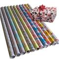 禮品包裝紙套裝70克牛皮紙70cm x 2.0m彩色印花包裝紙 3