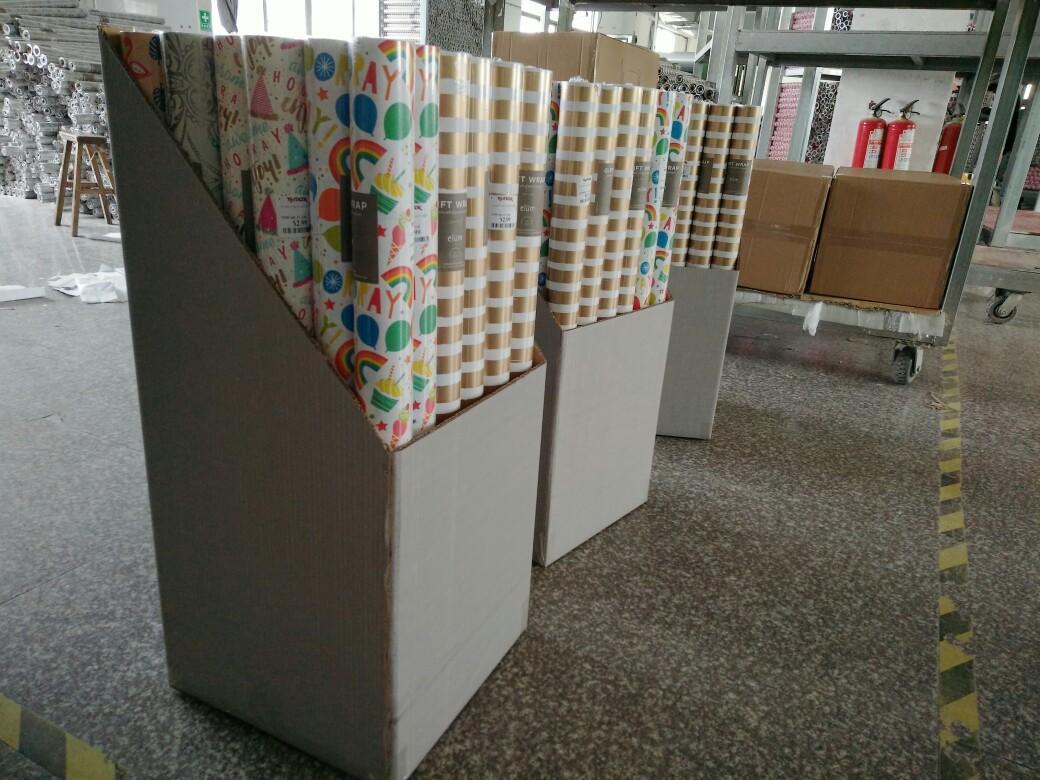 禮品包裝紙套裝70克牛皮紙70cm x 2.0m彩色印花包裝紙 6