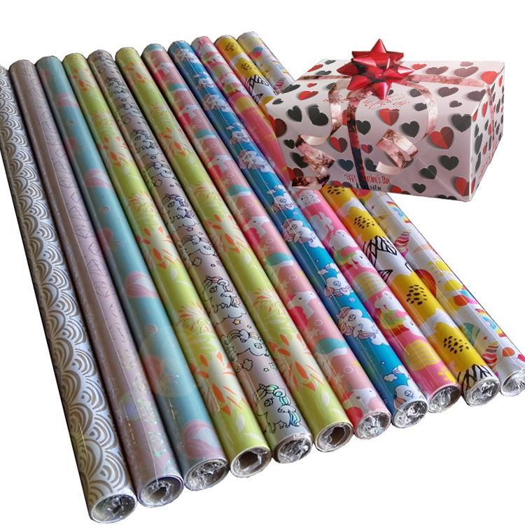 印花禮品包裝紙套裝60克輕塗紙76cmx 3.05m金屬色印刷 2