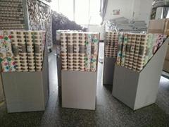 彩色印花礼品包装纸套装70cm x 2.5m 镭射膜烫金