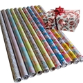gift wrapping paper roll set laser film 80gsm art paper
