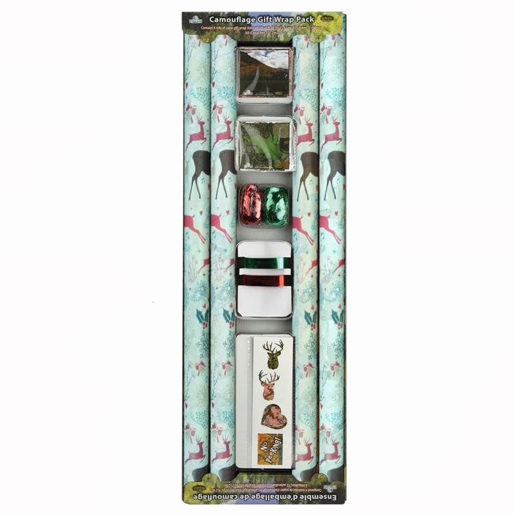 彩色印花禮品包裝紙套裝70cm x 2.5m 鐳射膜燙金 4