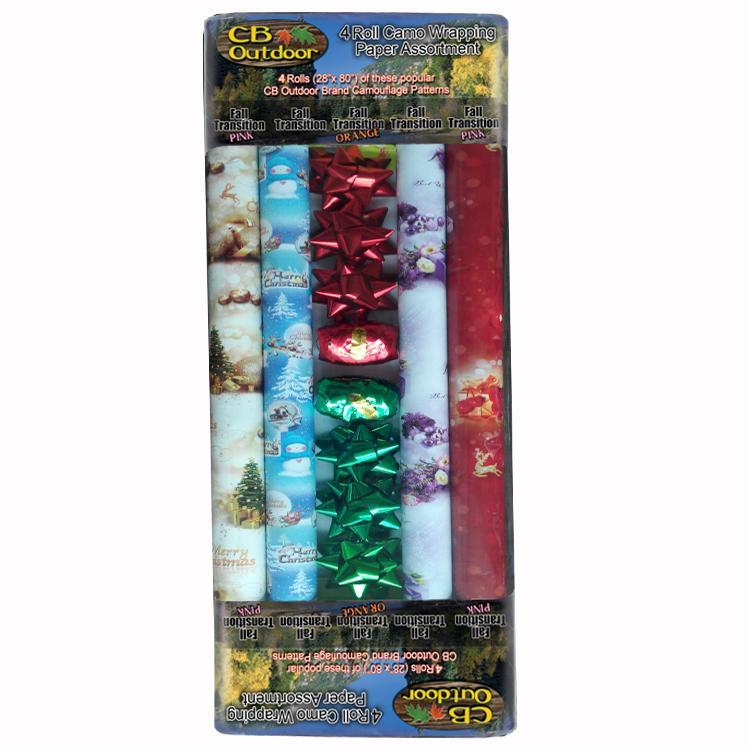 彩色印花禮品包裝紙套裝70cm x 2.5m 鐳射膜燙金 5
