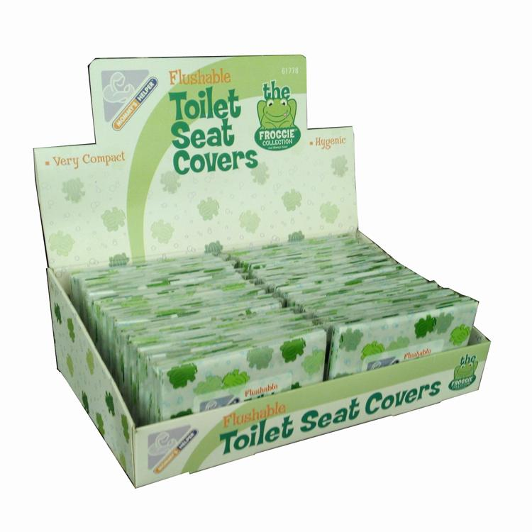 flushable printed paper toilet seat cover 17gsm 40cm x 42cm