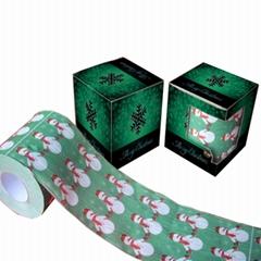 聖誕節衛生紙印花衛生紙聖誕節紙巾生產
