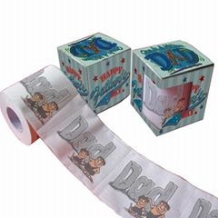 father's day printed toilet paper funny toilet tissue