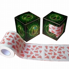 printed toilet paper christmas toilet paper supplier