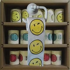 笑脸印花卫生纸